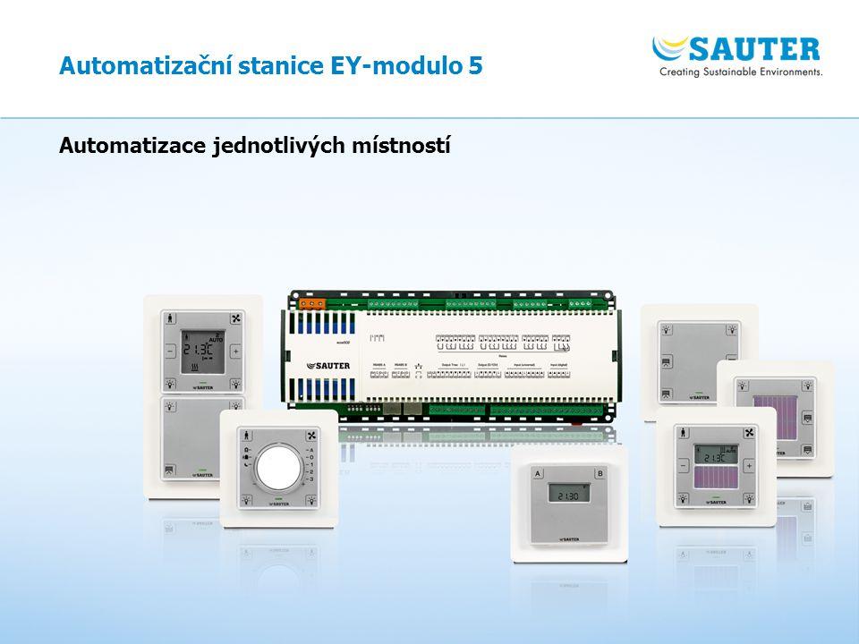 27 Automatizace jednotlivých místností Automatizační stanice EY-modulo 5