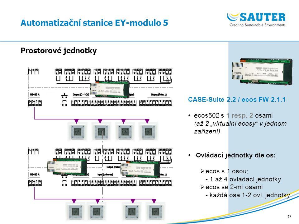 """29 Automatizační stanice EY-modulo 5 Prostorové jednotky CASE-Suite 2.2 / ecos FW 2.1.1 ecos502 s 1 resp. 2 osami (až 2 """"virtuální ecosy"""" v jednom zař"""