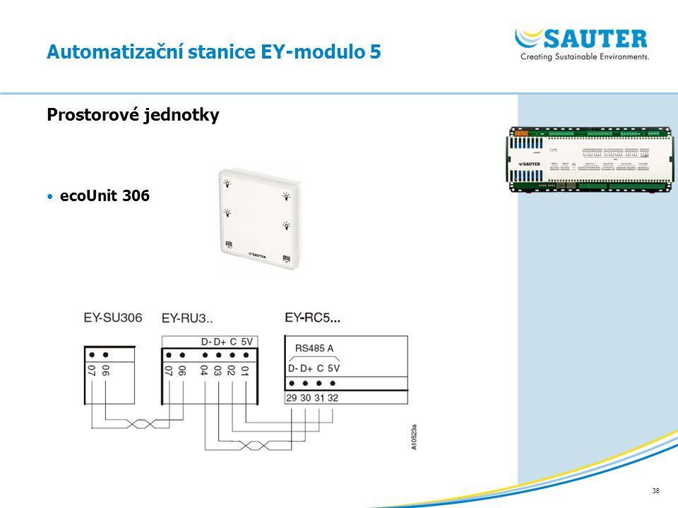 38 Prostorové jednotky ecoUnit 306 Automatizační stanice EY-modulo 5