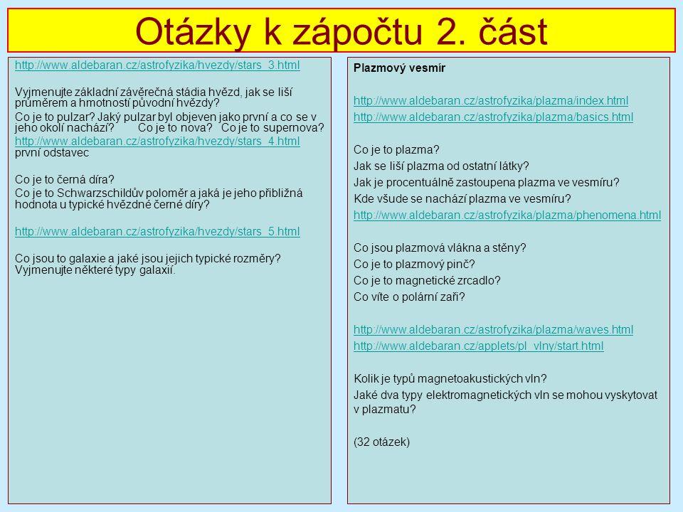 Otázky k zápočtu 2.