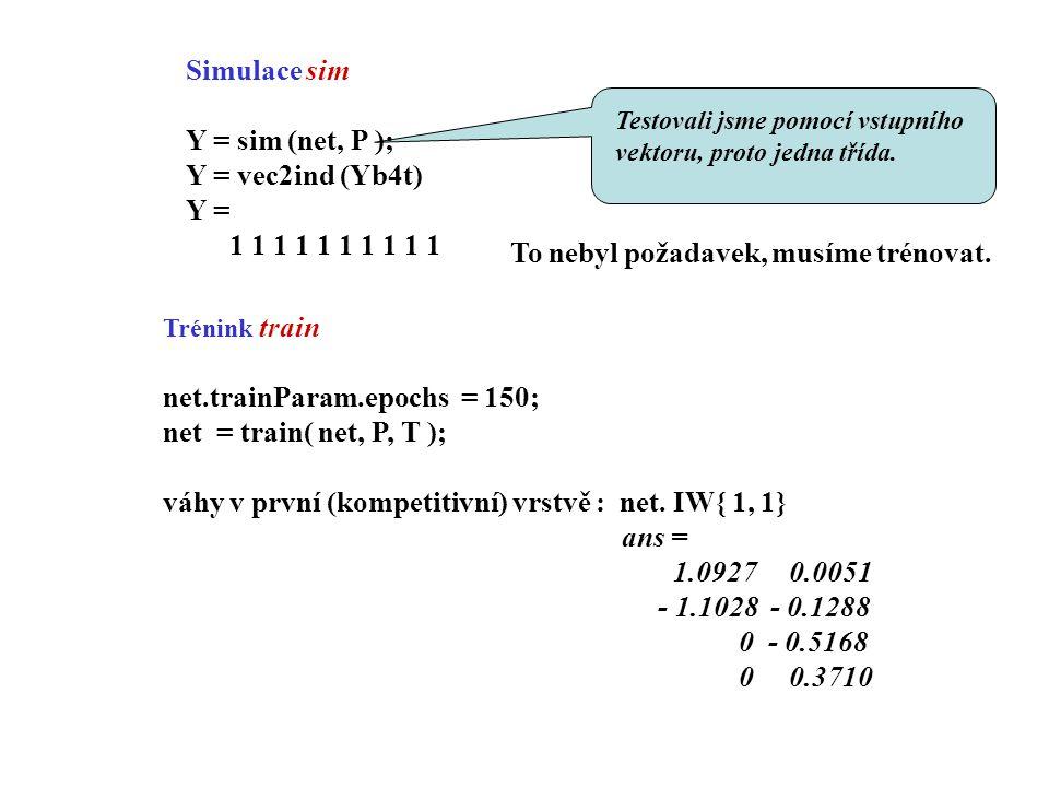 Chceme klasifikovat do jedné třídy vektory p1, p2, p3, p8, p9, p10 a do druhé třídy vektory p4, p5, p6, p7 Pozn.: lineárně neseparabilní prostory, nelze použít perceptron.