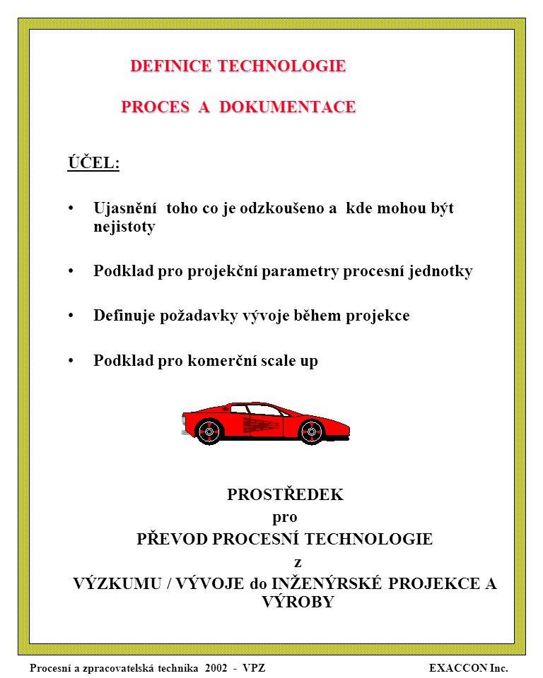 Procesní a zpracovatelská technika 2002 - VPZ EXACCON Inc.