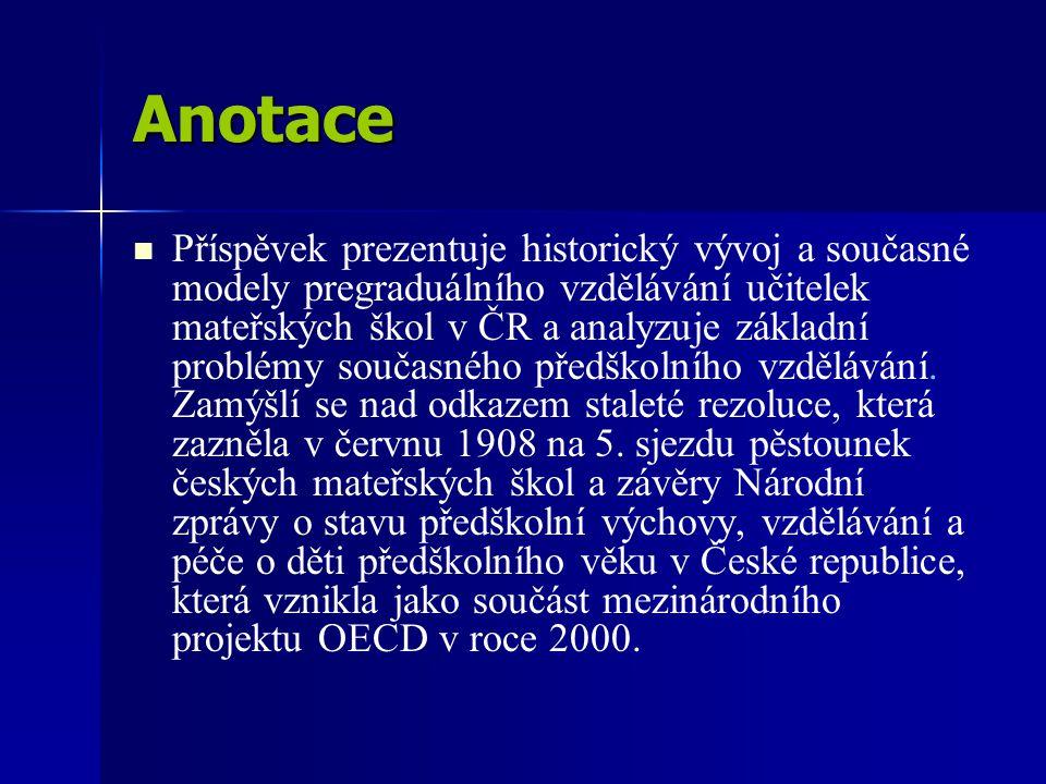 Iniciativy doc.PhDr. Evy Opravilové, CSc.