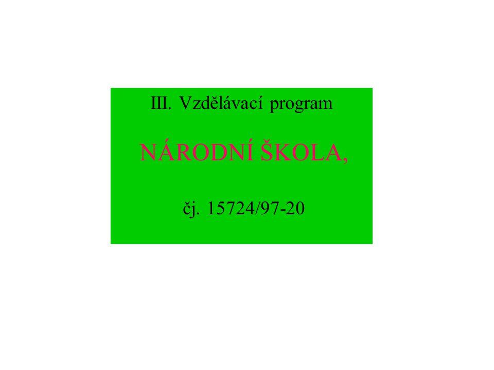 7. Modelový učební plán vzdělávacího programu základní škola pro třídy s rozšířeným vyučováním informatiky a výpočetní techniky, čj. 16845/2001-22 Roč