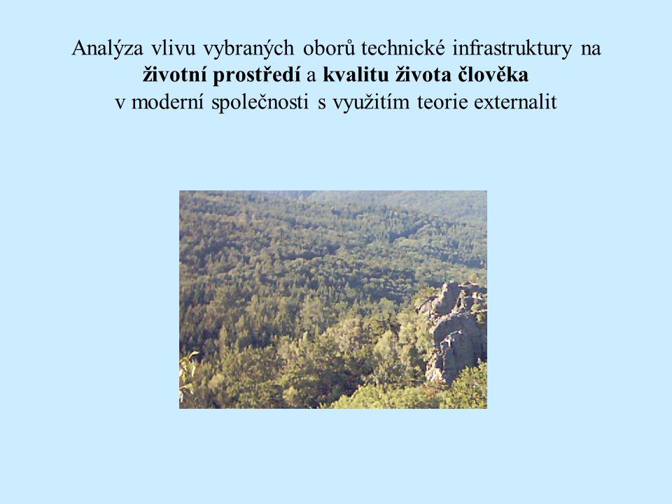 Analýza vlivu vybraných oborů technické infrastruktury na životní prostředí a kvalitu života člověka v moderní společnosti s využitím teorie externalit