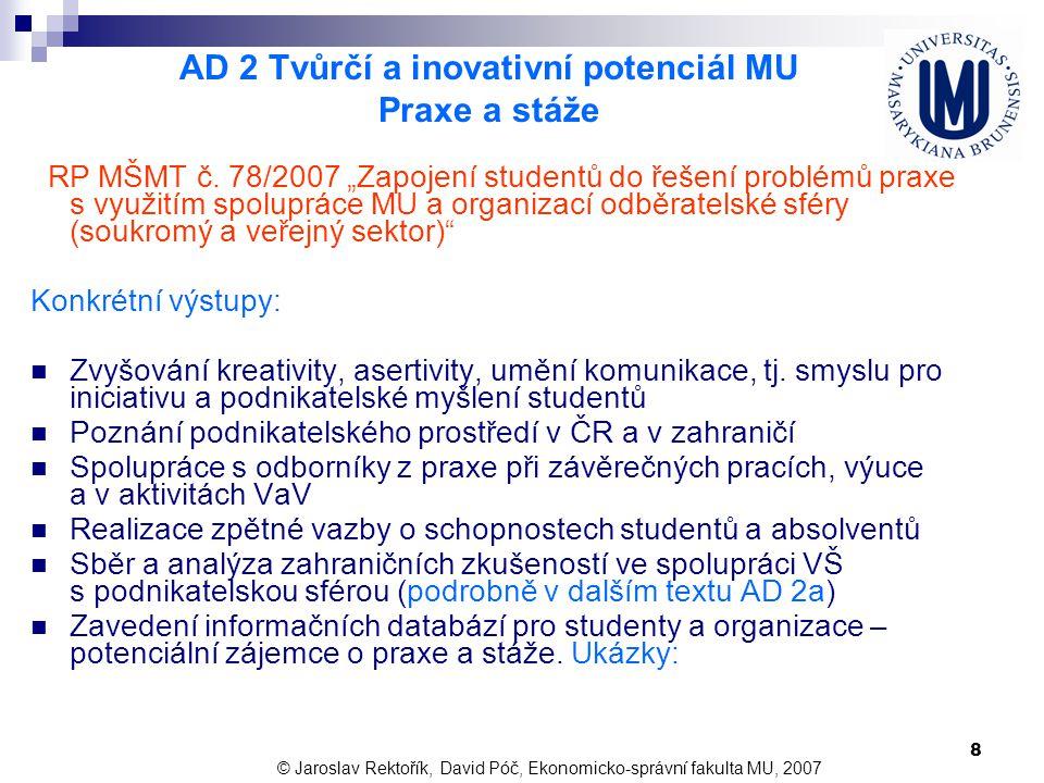 29 Děkujeme za pozornost doc.Ing. Jaroslav Rektořík, CSc.