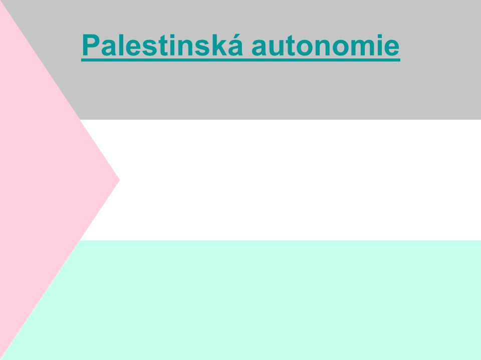 Palestinská autonomie