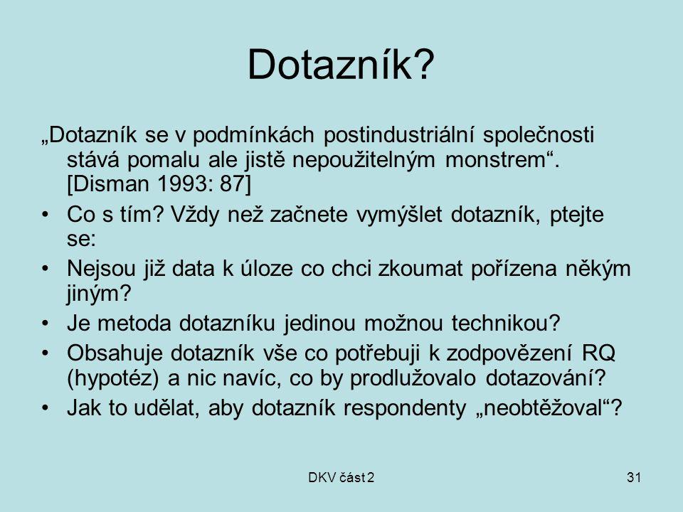 DKV část 231 Dotazník.