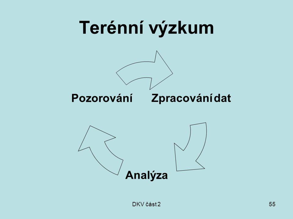 DKV část 255 Terénní výzkum Zpracování dat Analýza Pozorování