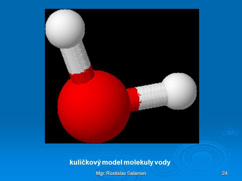 Mgr. Rostislav Salamon24 kuličkový model molekuly vody