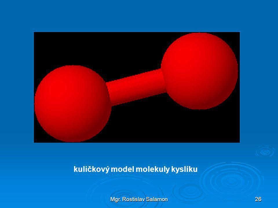 Mgr. Rostislav Salamon26 kuličkový model molekuly kyslíku