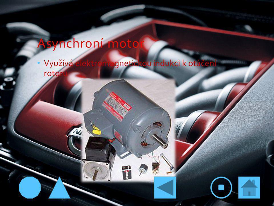 Asynchroní motor Využívá elektromagnetickou indukci k otáčení rotoru