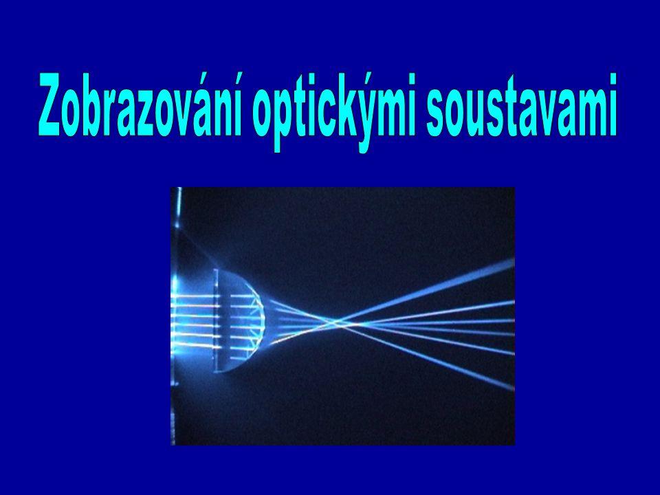 ČOČKA = čiré optické prostředí omezené dvěma opticky hladkými plochami, určené k optickému zobrazení – využívá zákona lomu 5.