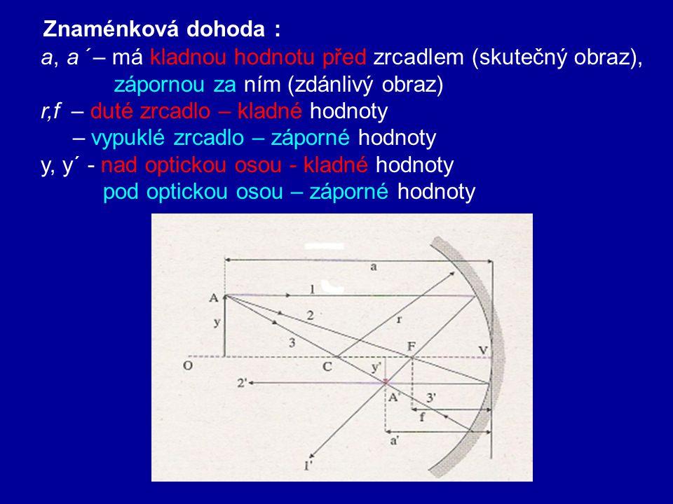 1 3 1 Při geometrické konstrukci obrazu využíváme dva ze 3 význačných paprsků : 3.