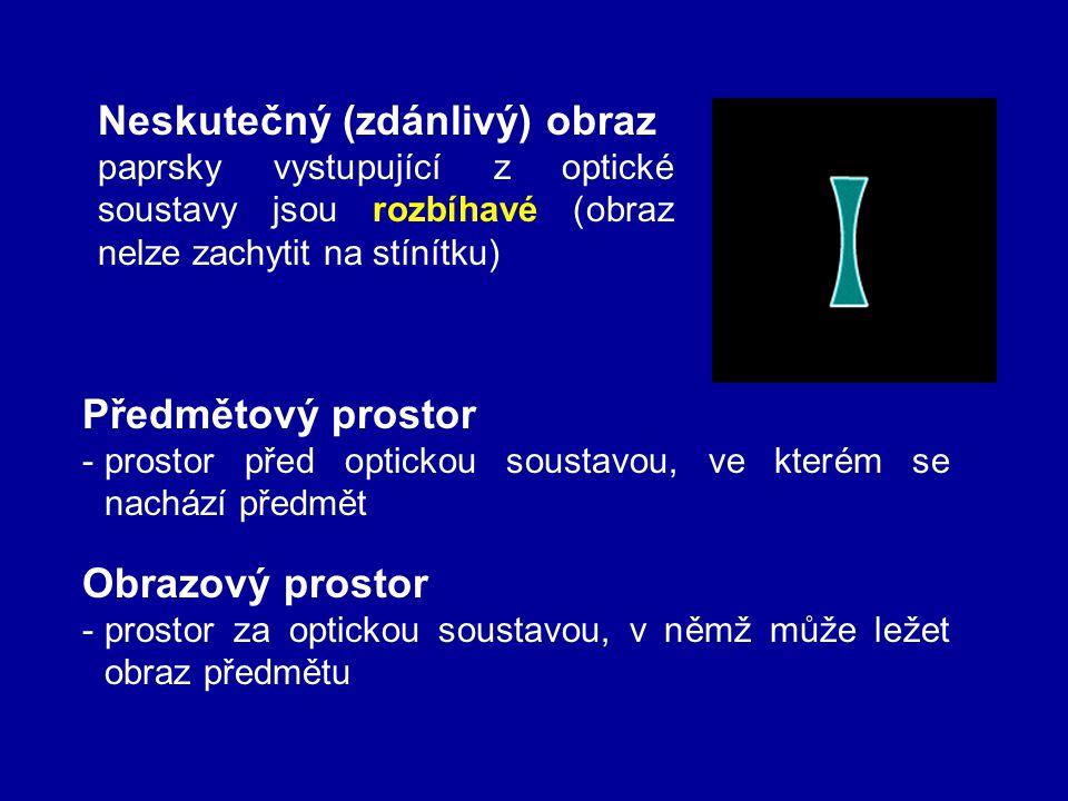 - vytváří přímý, neskutečný a zvětšený obraz Galileův dalekohled - objektiv je spojka a okulár je rozptylka