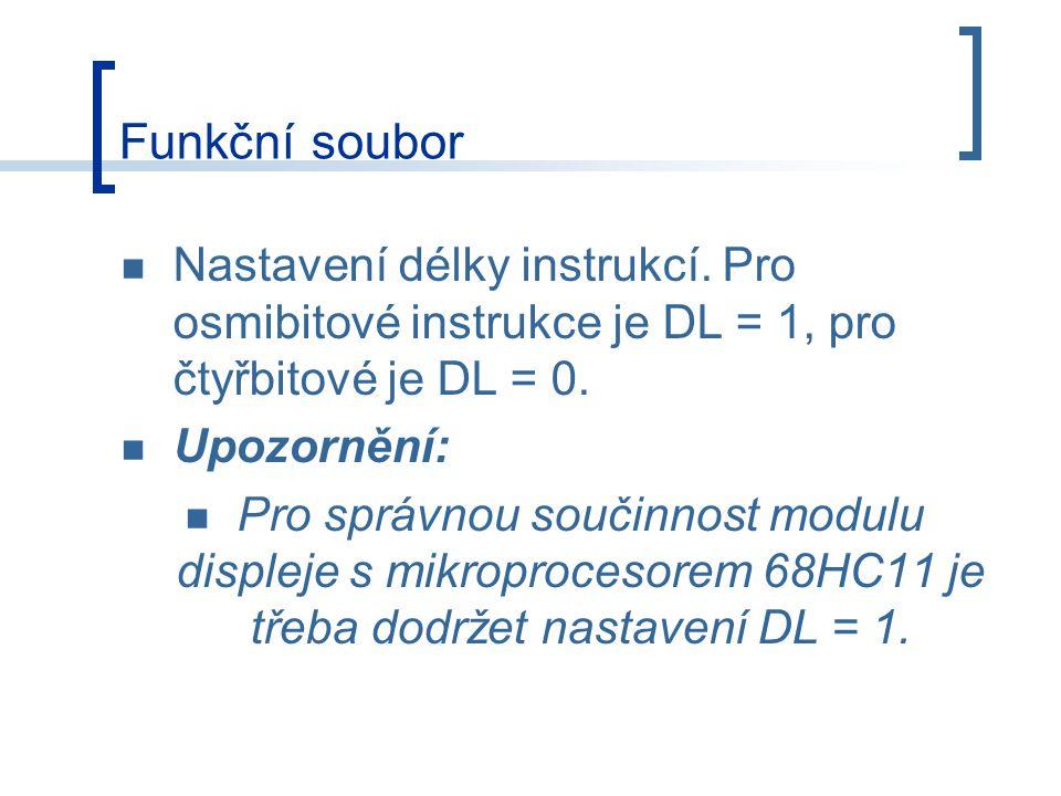 Funkční soubor Nastavení délky instrukcí.
