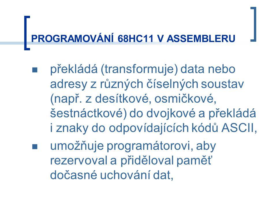 překládá (transformuje) data nebo adresy z různých číselných soustav (např.