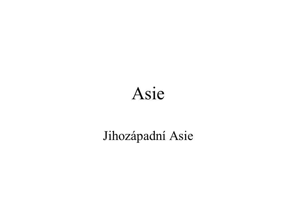 Asie Jihozápadní Asie