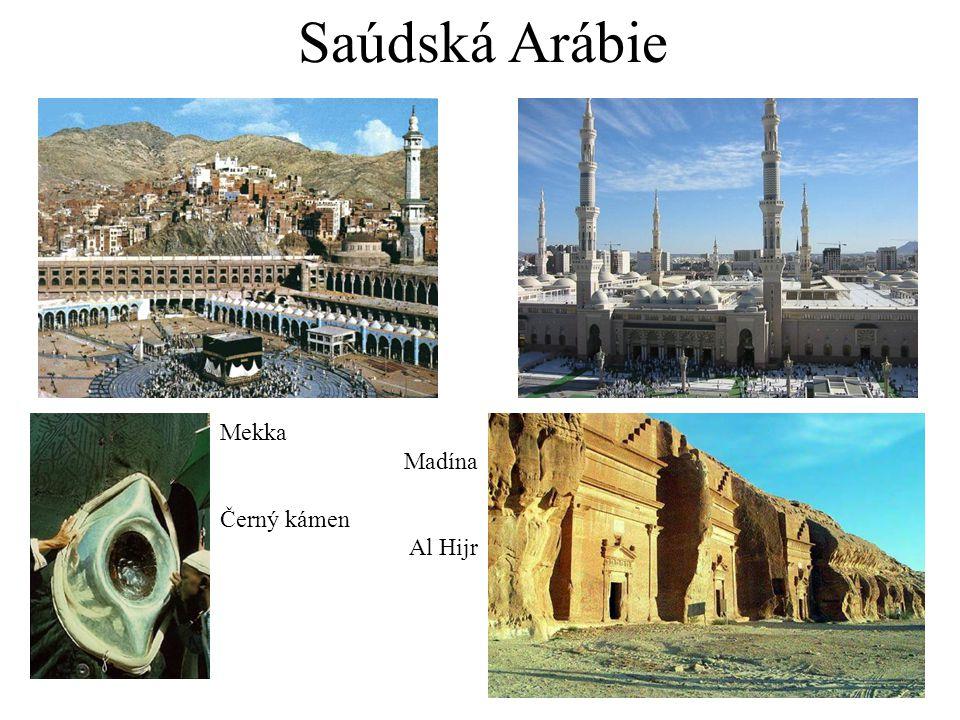 Saúdská Arábie Mekka Madína Černý kámen Al Hijr