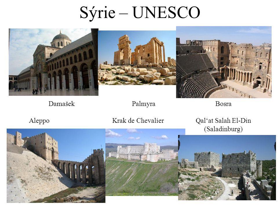 Sýrie – UNESCO DamašekPalmyraBosra AleppoKrak de ChevalierQal'at Salah El-Din (Saladinburg)