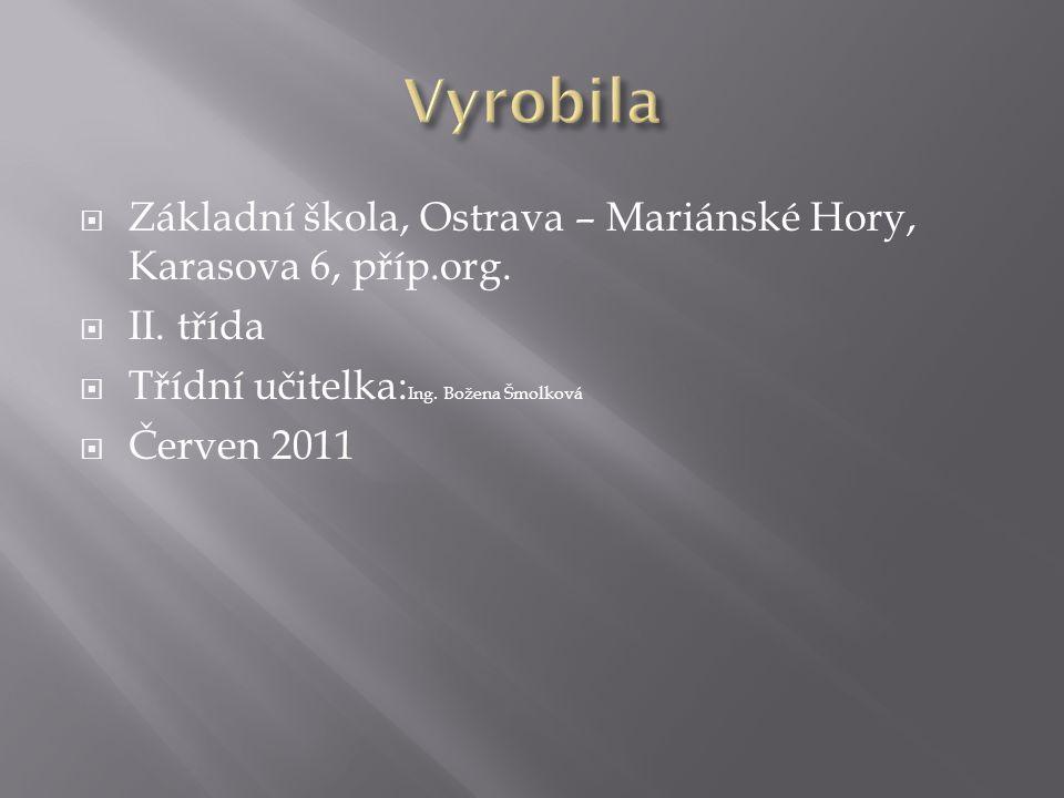  Základní škola, Ostrava – Mariánské Hory, Karasova 6, příp.org.