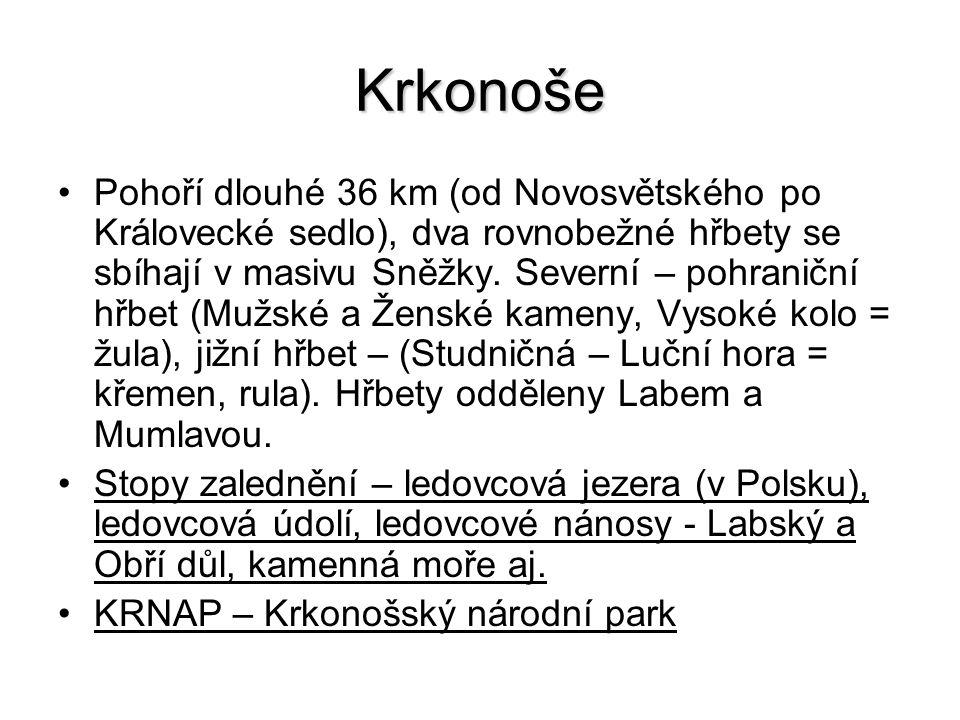 Broumovská vrchovina:Broumovská vrchovina: skalní pískovcová města – Adršpašské a Teplické skály.