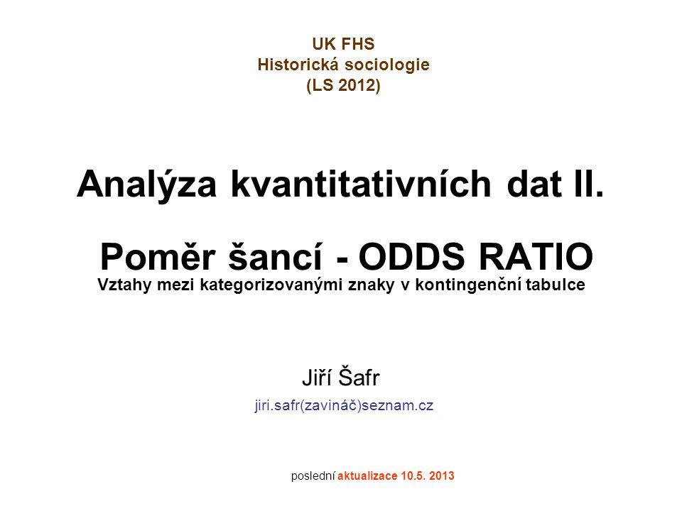 Vzdělanostní mobilita (otec → syn/dcera) Data ISSP 2007, ČR