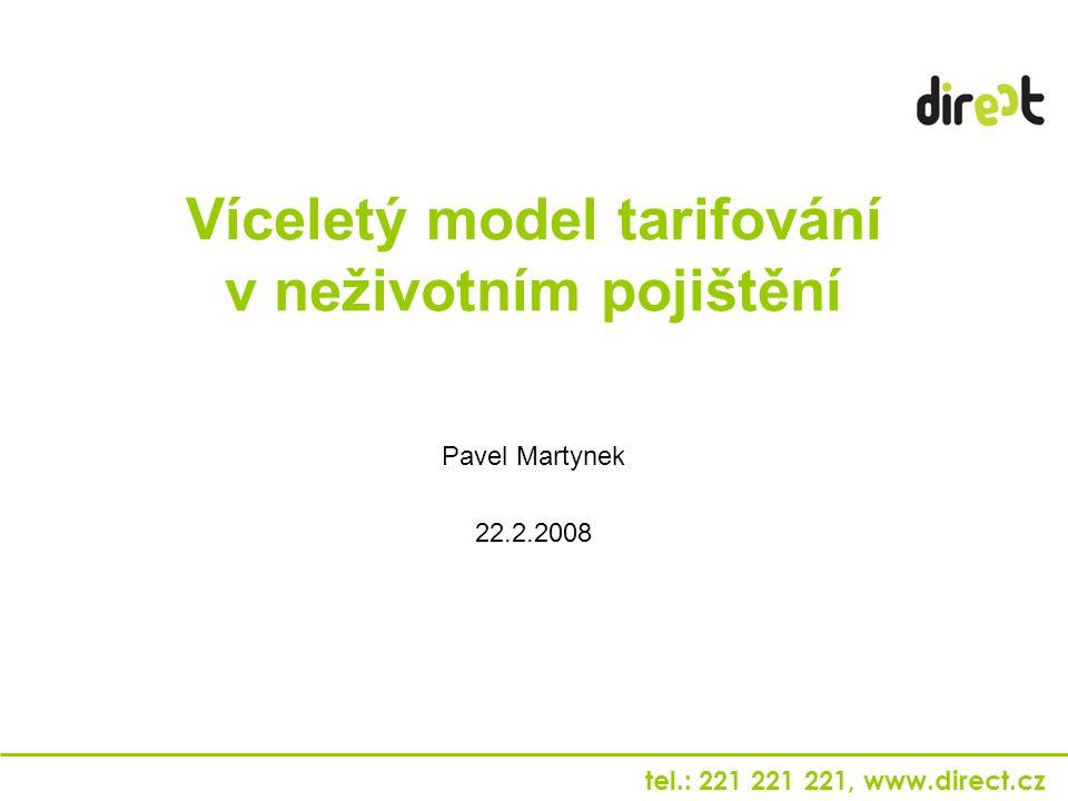 tel.: 221 221 221, www.direct.cz Víceletý model tarifování v neživotním pojištění Pavel Martynek 22.2.2008