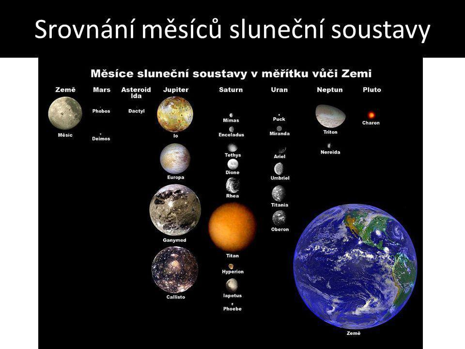Srovnání měsíců sluneční soustavy