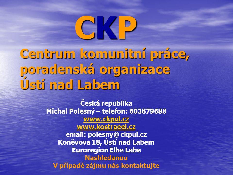 CKP Centrum komunitní práce, poradenská organizace Ústí nad Labem CKP Centrum komunitní práce, poradenská organizace Ústí nad Labem Česká republika Mi