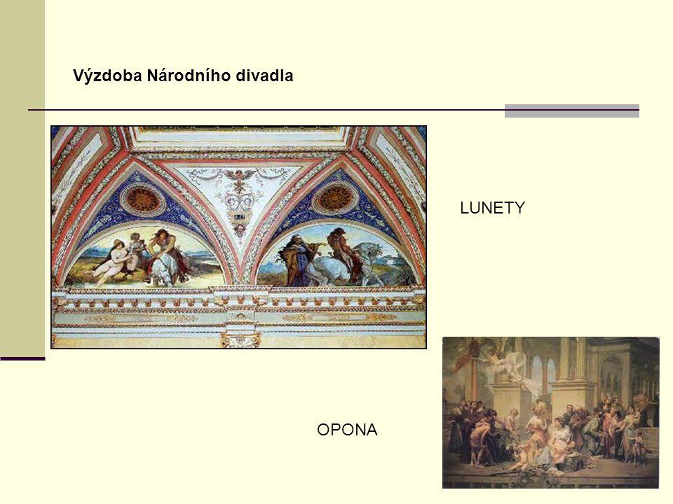 Výzdoba Národního divadla LUNETY OPONA