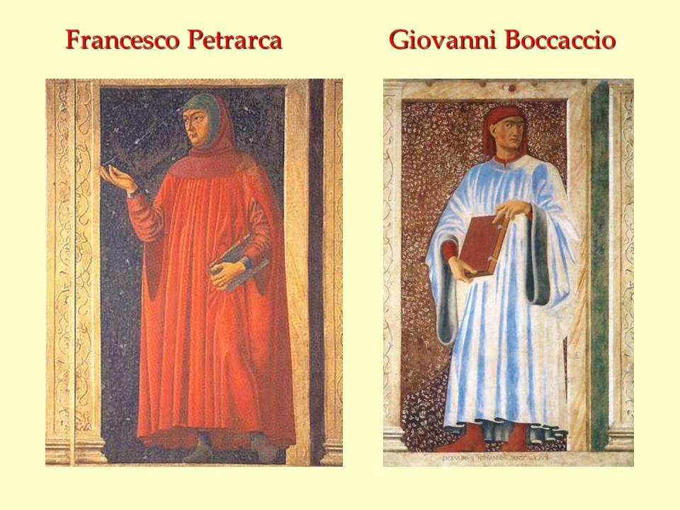 Francesco Petrarca Giovanni Boccaccio