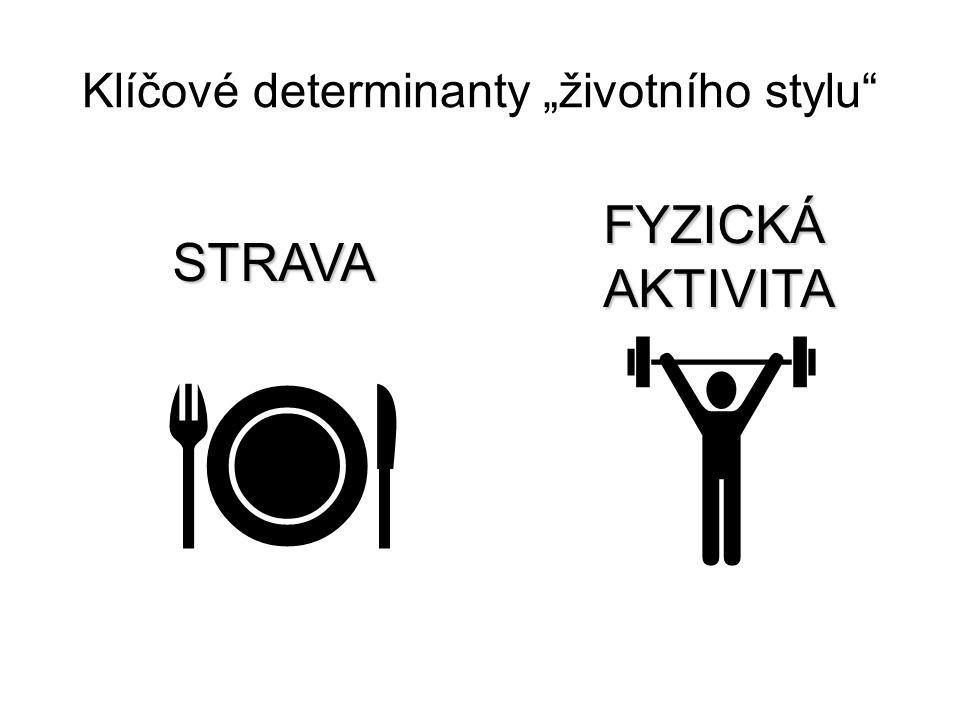 """Klíčové determinanty """"životního stylu""""   STRAVA FYZICKÁAKTIVITA"""