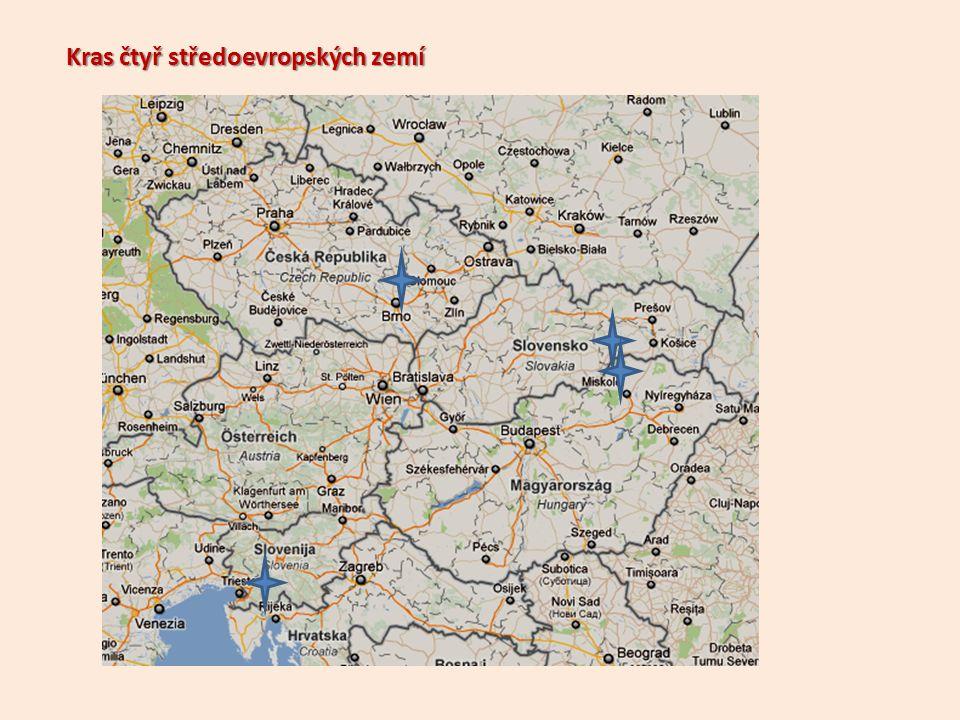 Kras čtyř středoevropských zemí