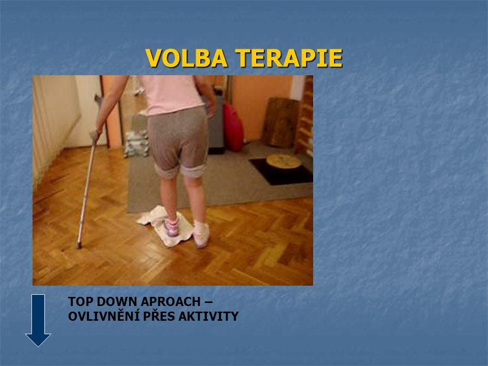 VOLBA TERAPIE TOP DOWN APROACH – OVLIVNĚNÍ PŘES AKTIVITY
