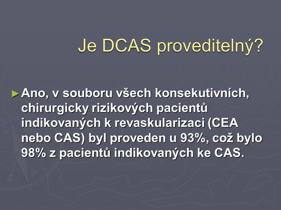 ► Ano, v souboru všech konsekutivních, chirurgicky rizikových pacientů indikovaných k revaskularizaci (CEA nebo CAS) byl proveden u 93%, což bylo 98%