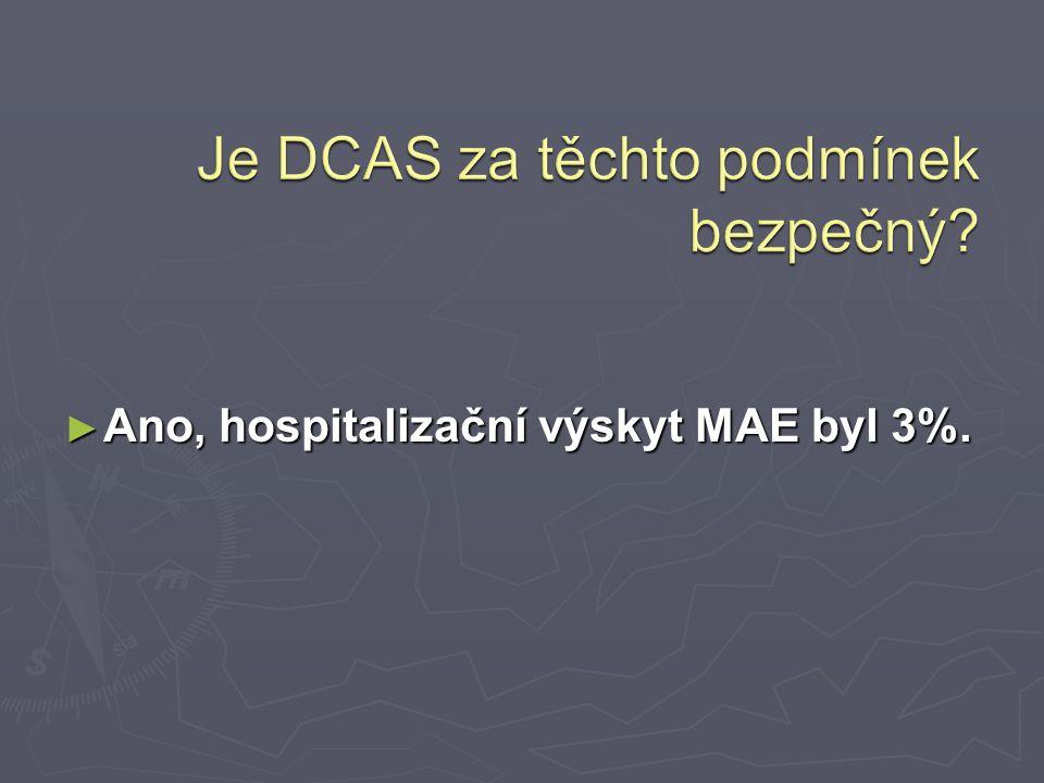 ► Ano, hospitalizační výskyt MAE byl 3%.