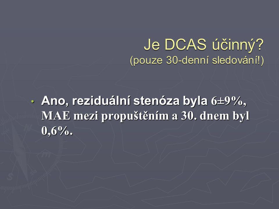 Ano, reziduální stenóza byla 6±9%, MAE mezi propuštěním a 30. dnem byl 0,6%. Ano, reziduální stenóza byla 6±9%, MAE mezi propuštěním a 30. dnem byl 0,