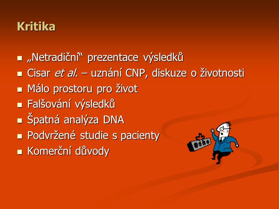"""Kritika """"Netradiční prezentace výsledků """"Netradiční prezentace výsledků Cisar et al."""