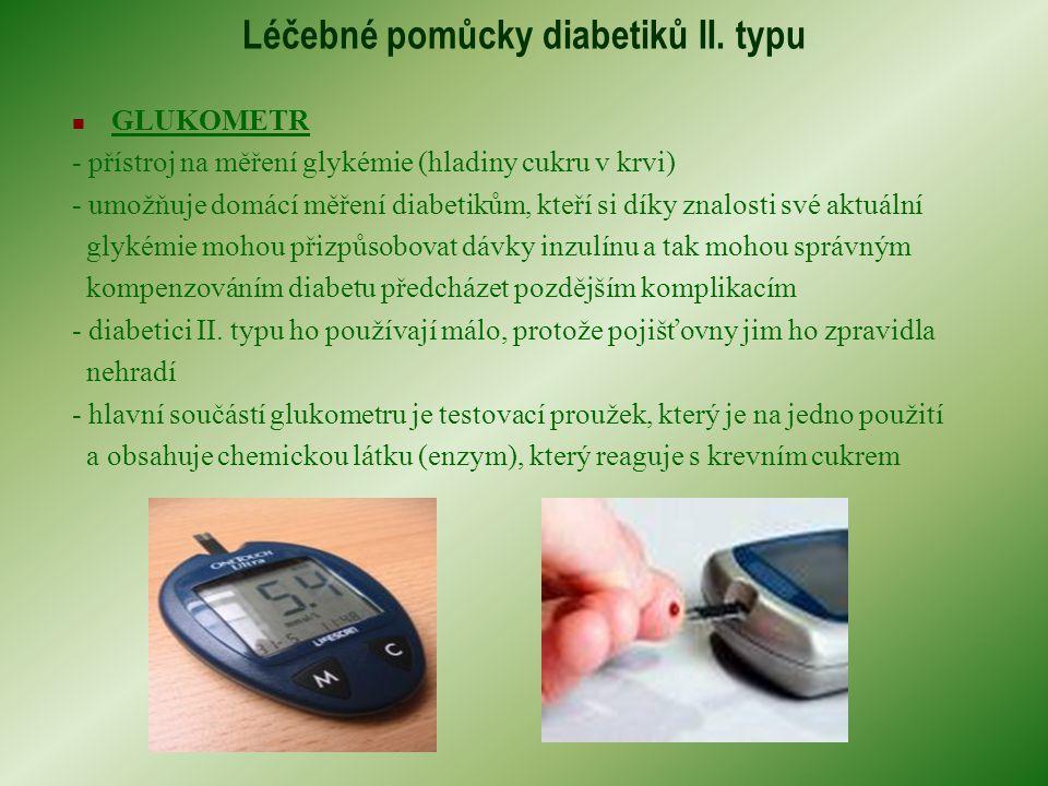 Léčebné pomůcky diabetiků II.