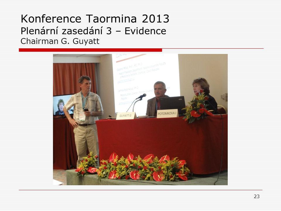 "Gordon H. Guyatt (4) Vývoj názorů : ""pre-appraised"" evidence Evidence based healthcare (EBHC Evidence based healthcare (EBHC) – zdravotnictví založené"