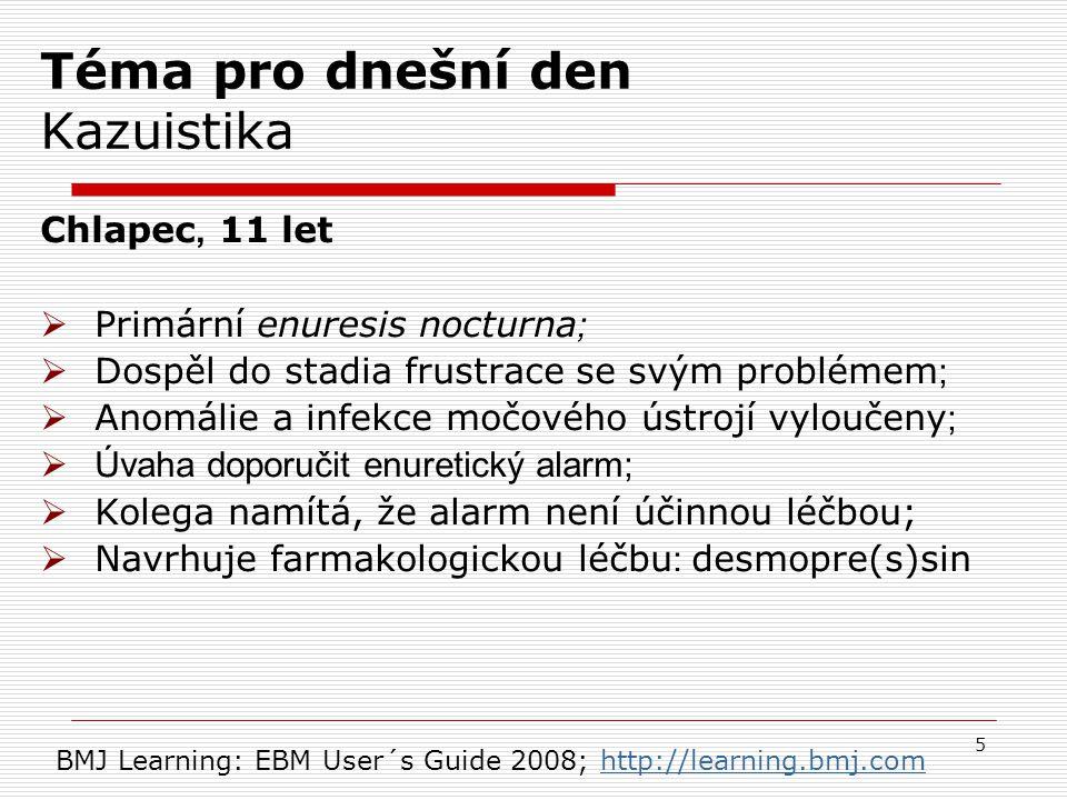 Krok 2  desmopressin OR alarm* * Znamená přípony, např.