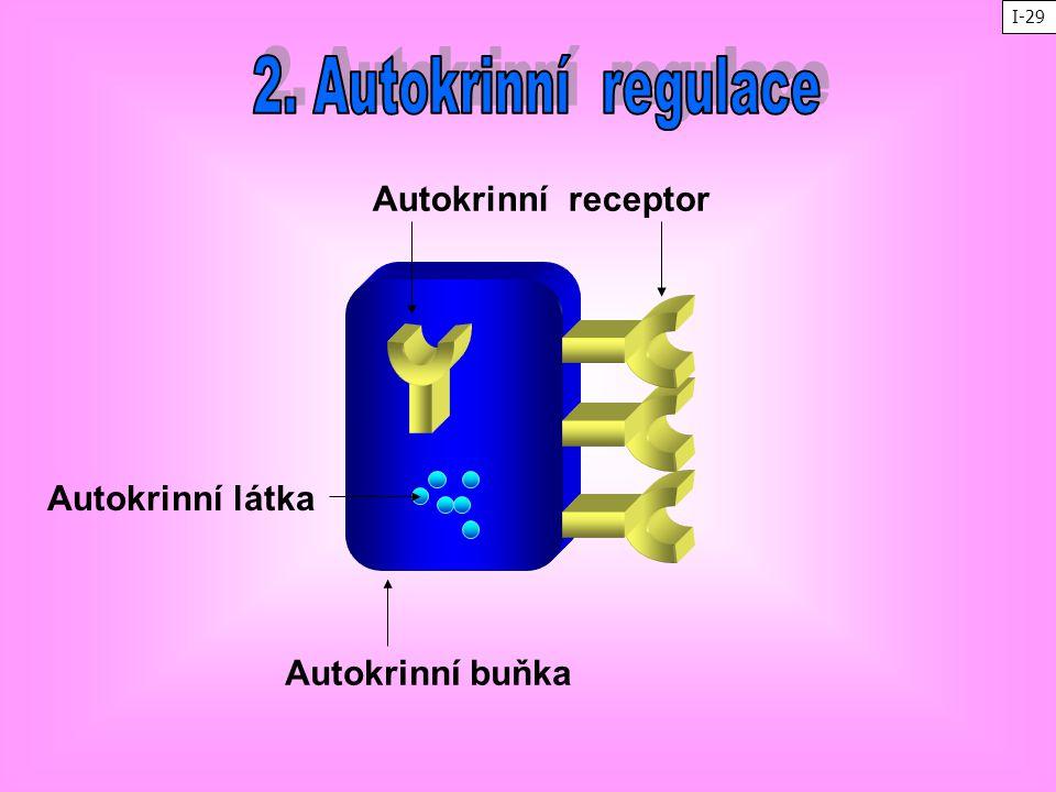 Autokrinní buňka Autokrinní receptor Autokrinní látka I-29