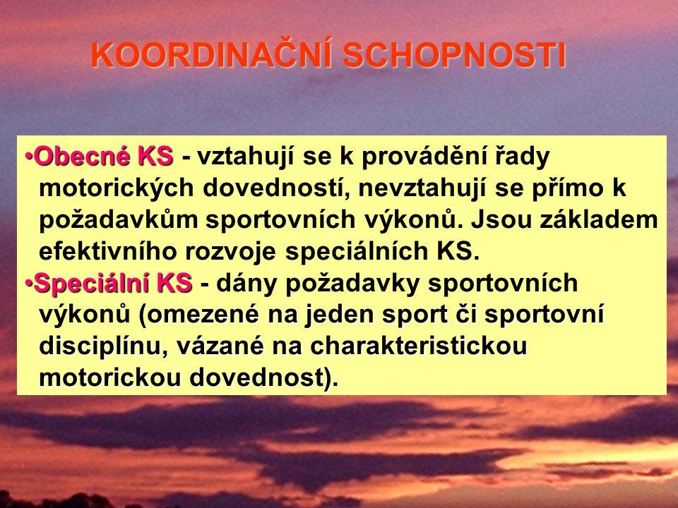 Obecné KSObecné KS - vztahují se k provádění řady motorických dovedností, nevztahují se přímo k požadavkům sportovních výkonů.