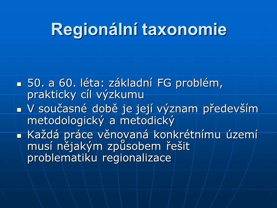 """Podle postupu Podle postupu Deduktivní – dělení větších jednotek na menší (teoreticky od celé geografické sféry po topickou dimenzi v případě FG, po mikroregionální dimenzi v případě HG)Deduktivní – dělení větších jednotek na menší (teoreticky od celé geografické sféry po topickou dimenzi v případě FG, po mikroregionální dimenzi v případě HG) Induktivní – slučování menších jednotek ve větší (teoreticky od topické dimenze v případě FG, či od """"základní prostorové jednotky v případě HG po geografickou sféru)Induktivní – slučování menších jednotek ve větší (teoreticky od topické dimenze v případě FG, či od """"základní prostorové jednotky v případě HG po geografickou sféru) Regionální taxonomie"""