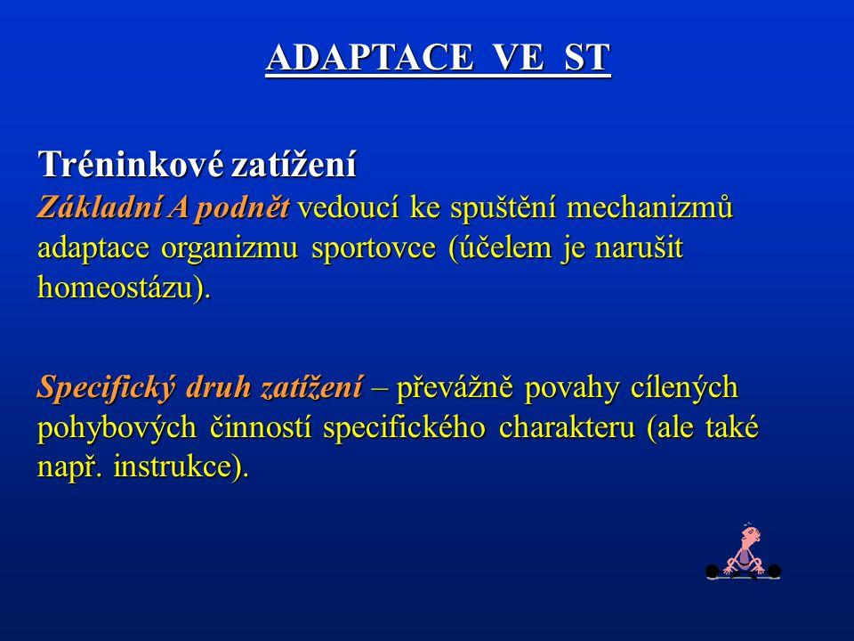 Kontrolní otázky: 1.Charakterizujte tréninkového zatížení (TZ) jako adaptační podnět, objasněte proces zatěžování.