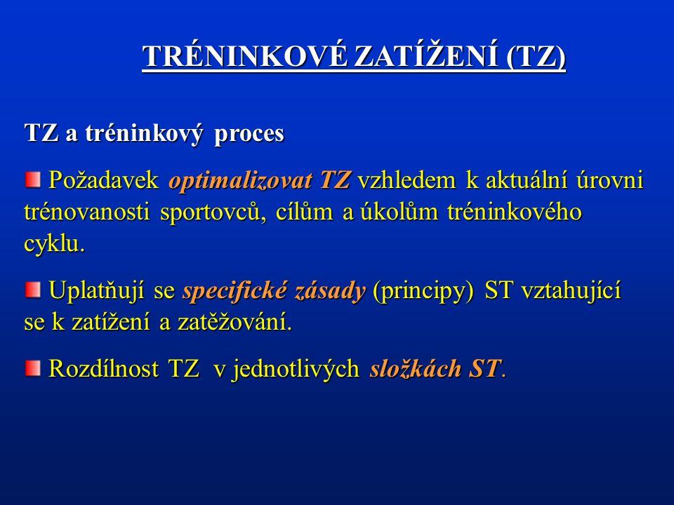 Zvýšit pravděpodobnost vzniku tréninkových efektů předpokládá nejen charakterizovat TZ stanovením složek TZ, ale dále: objektivizovatvelikost TZ objektivizovat velikost TZ rozlišovat vnější a vnitřní TZ rozlišovat vnější a vnitřní TZ poměr zatížení a zotavení.