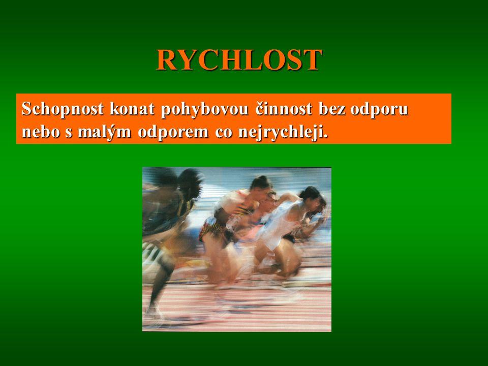 1.Charakteristika R, R jako faktor sportovních výkonů. 2.Biologické základy R. 3.Členění rychlostních schopností – druhy R. 4.Tréninkové aspekty R. 5.