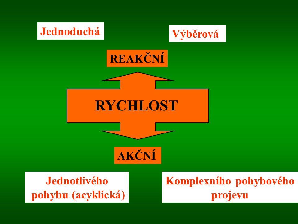 Z anatomicko-fyziologického hlediska je R určena především: Nervovo-svalovou koordinací (rychlost vedení vzruchů, střídání kontrakce a relaxace) zasto