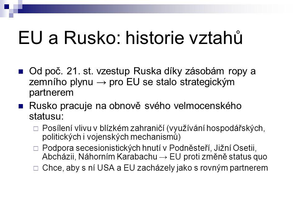 Společný hospodářský prostor  Spory:  zvýšení dovozní cel na některé produkty z EU (zvýšení cel na dovoz dřeva z Finska)  veterinární a fytosanitární certifikáty pro vývozy z EU (případ zákazu dovozu polského masa)  nedostatečná ochrana práv duševního vlastnictví v Rusku  nedostatečná implementace Kjótského protokolu  jaderná bezpečnost